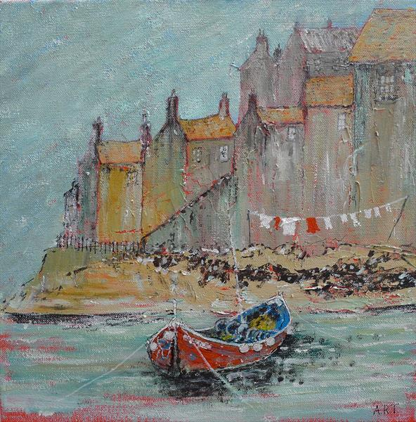 Wash day Staithes by Richard Turner