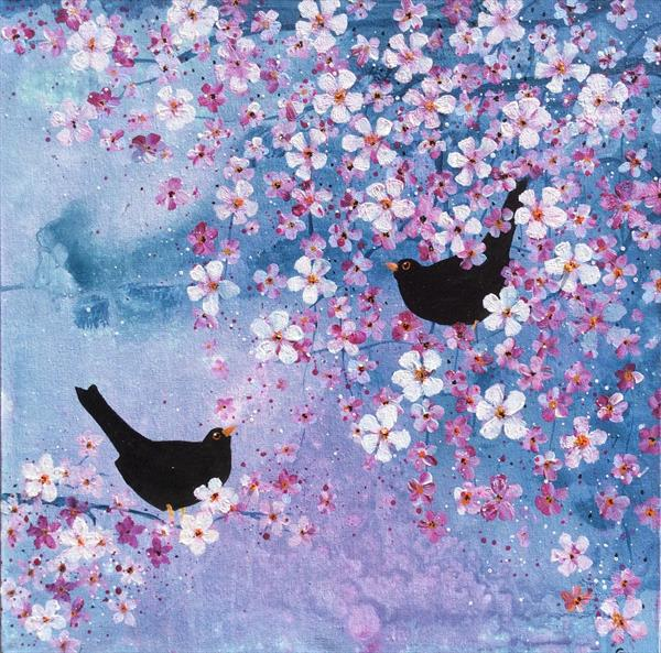 Blackbirds and Blossom