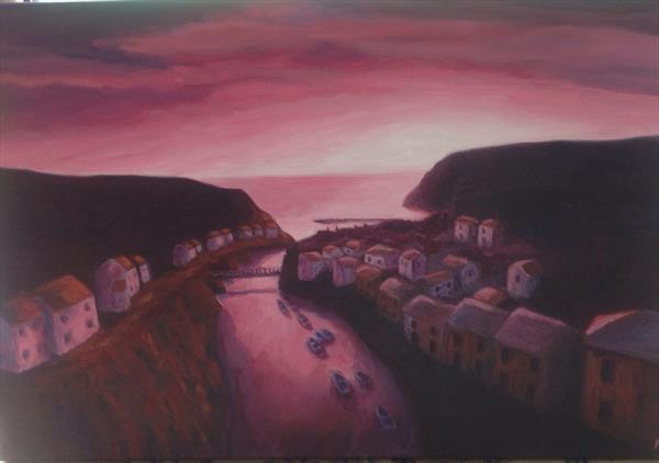 Staithes sunset by Andrew Pringle