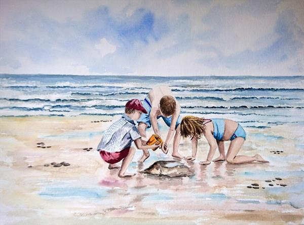 A Day at the Seaside by vicki Griggs