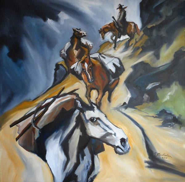 Pack Horses on the Trail by John MacFarlan