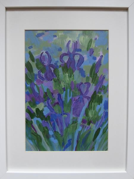 Blue Iris Patch by Elaine Allender