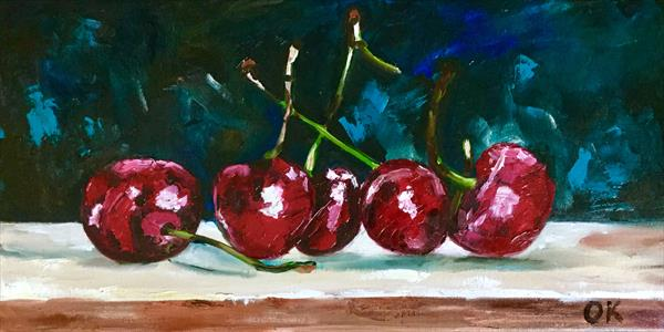 Sweet cherries.  by Olga  Koval