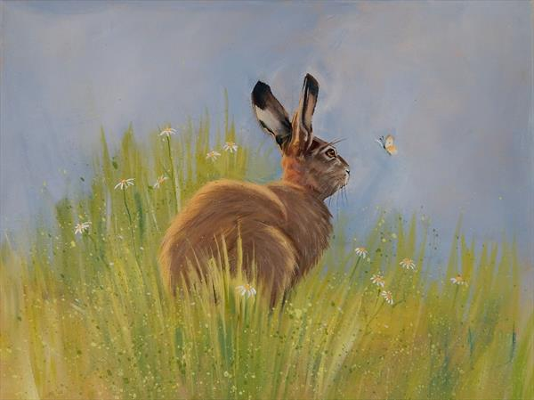 Hare and Small White by Denise Coble
