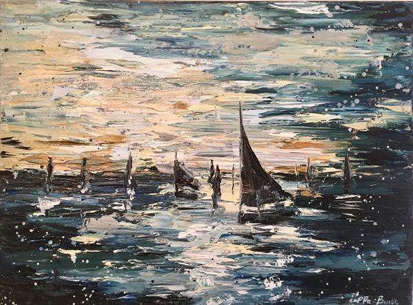 Sail silhouette  by Pippa Buist