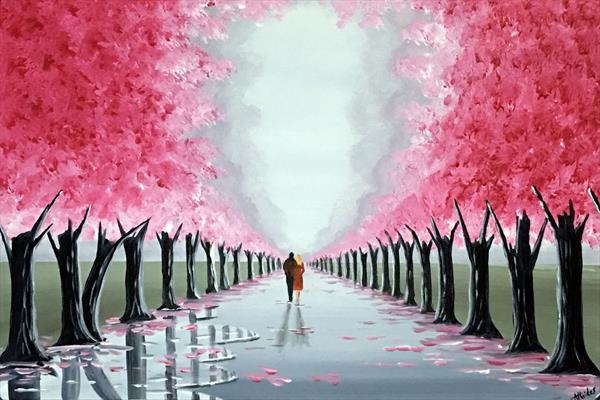 Romantic Blossom Tree Walk 3 by Aisha Haider