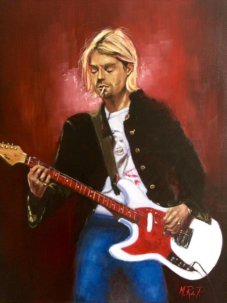Kurt Cobain by Marcela Rogel de Pepper