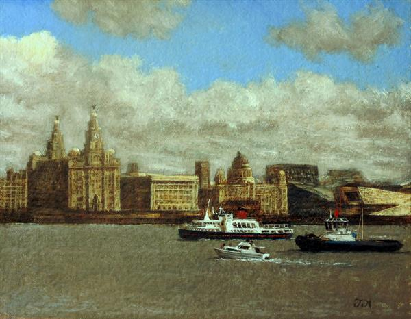 Smit Barbados and The Royal Iris on the River Mersey