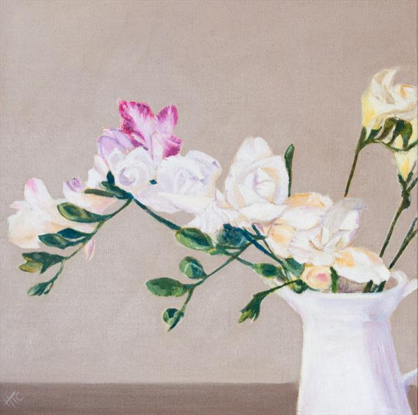 Freesias by Helen Templeton-cross