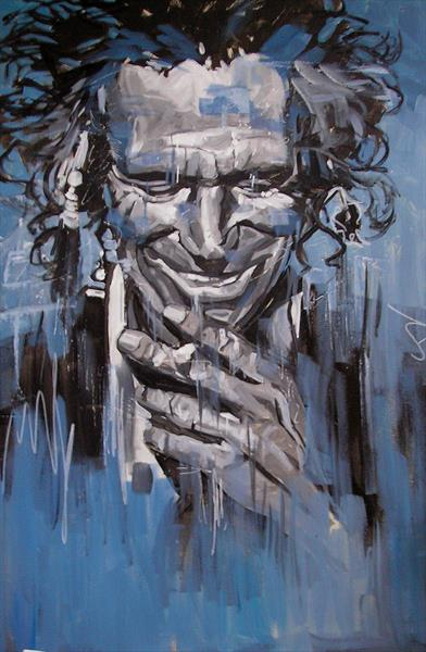 Keith Richards 3 by Dawn Ogden-white