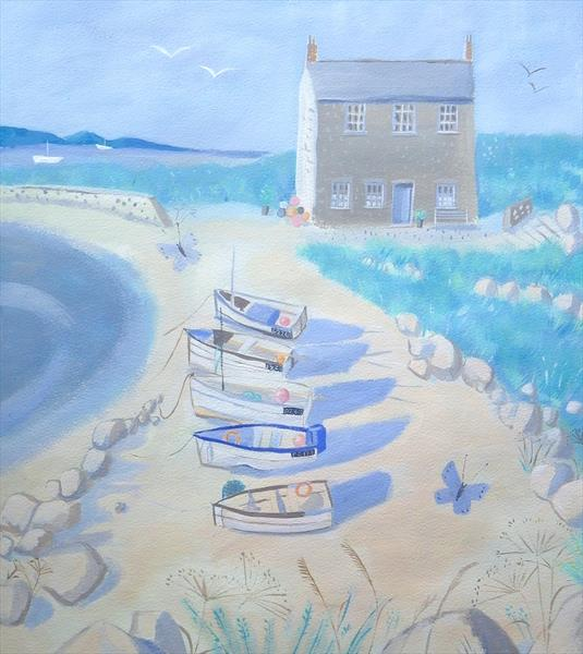 Sea Cottage by Mary Stubberfield