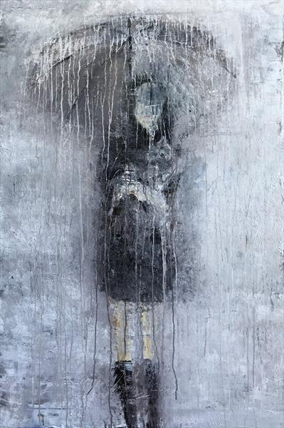 """Abstract Girl in the Rain No.7"""