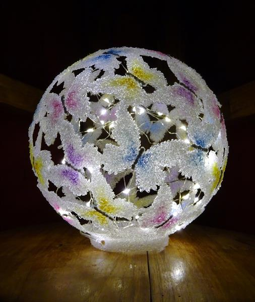 Butterfly Ball 2 (Light Sculpture) by Paula Horsley