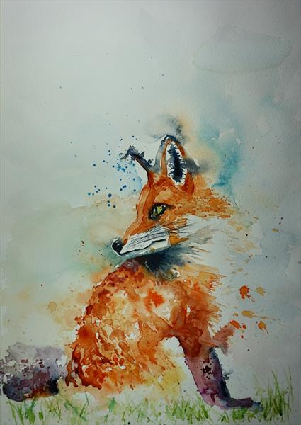 Fox - 'Backward Glance' by Anna Pawlyszyn