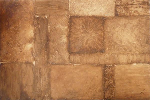 Geometric Sepia Abstract by Warren Green