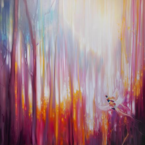 Nebulous Forest - a semi abstract landscape by Gill Bustamante