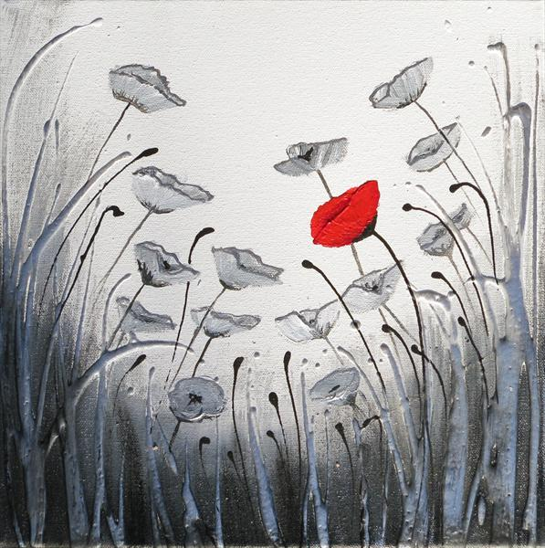 Commission (Single Red Poppy) - Reserved For Mr Brooks