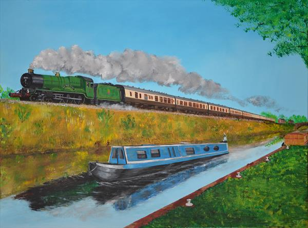 Encounter along the canal with 5043 Earl of Mount Edgcumbe by Van  Titlow