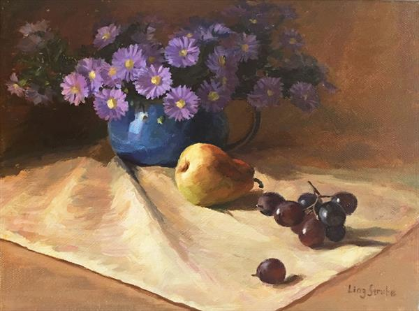 Still Life with Aster (Frame) by Ling Strube
