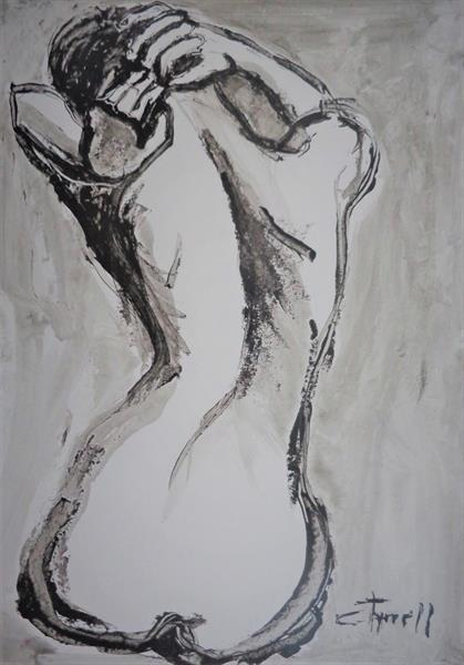 Styling Her Hair 3 -Female Nude by Carmen Tyrrell