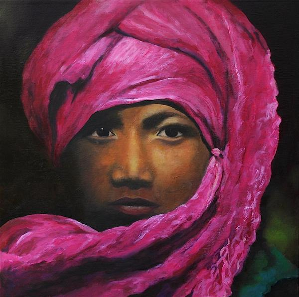 Boy in the Pink Turban by Laila Meadows