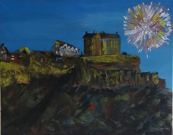 Fireworks at the Castle  by Peter Garland