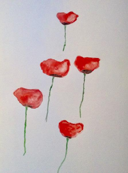 Poppies (3) by Denise Windle