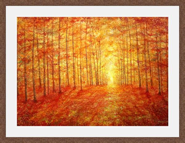 Autumn Clearing Limited Edition Print Framed by Stella Dunkley