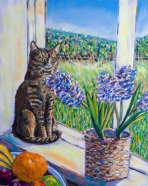 WINDOWSILL LOOKOUT by Diana Aungier - Rose