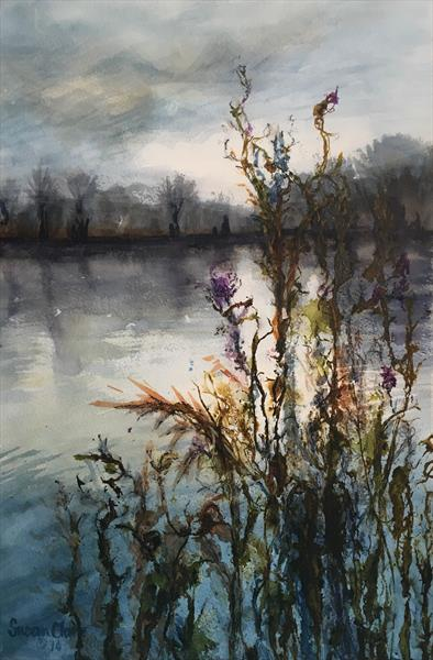 Twilight Lake by Susan Clare