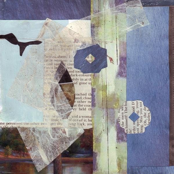Blue Collage 2 by Mary Adam