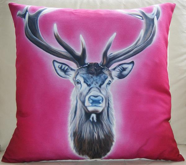 'Glittering Prize' fine art cushion. by Steven Shaw