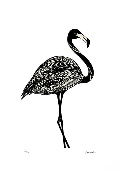 Black Flamingo by Kathryn Edwards