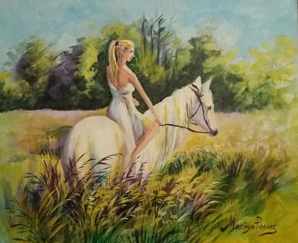 On the morning ride by mariya peters