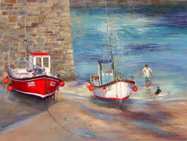 Newquay Harbour by Patricia Cunningham