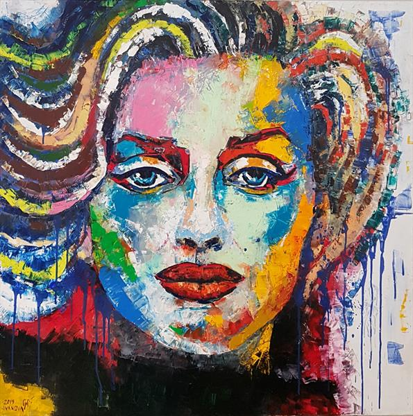 Marilyn Monroe in colours by Lena Ivanova