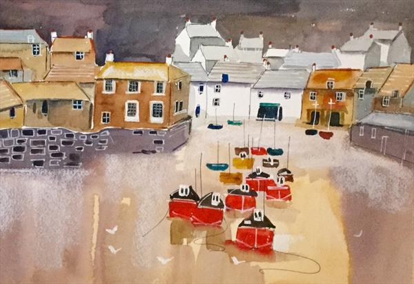 Port Isaac (semi abstract) by Susan Shaw
