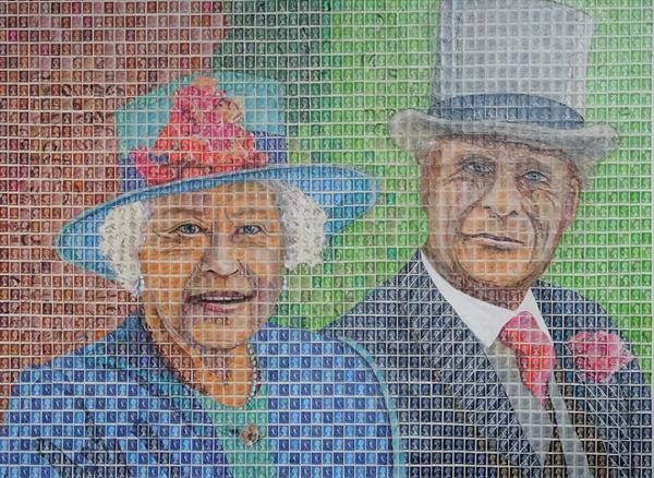Queen Elizabeth 11 and the Duke of Edinburgh by Peter Mason