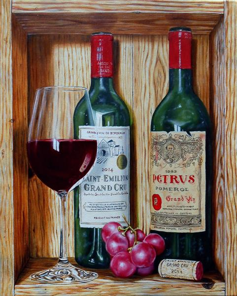 Grands crus in trompe-l'oeil by Jean-pierre Walter