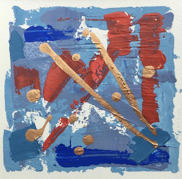 Mini abstract blue I by Louise Gillard