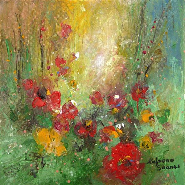 Happy Flowers by Kalpana Soanes