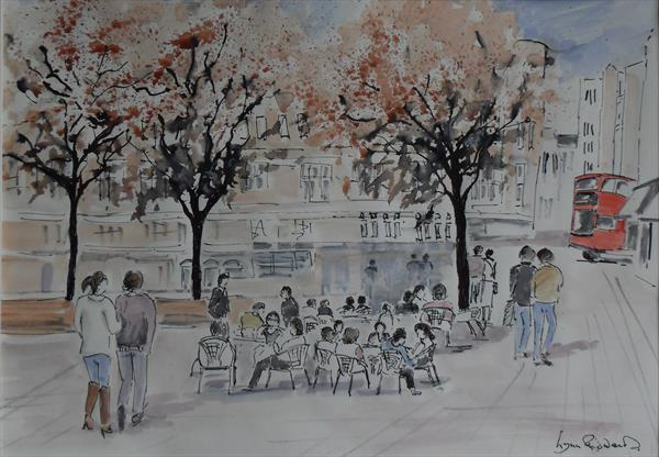 Autumn in Sloane Square, London by Lynn Edwards