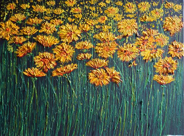 Yellow Flowers by Colette Baumback