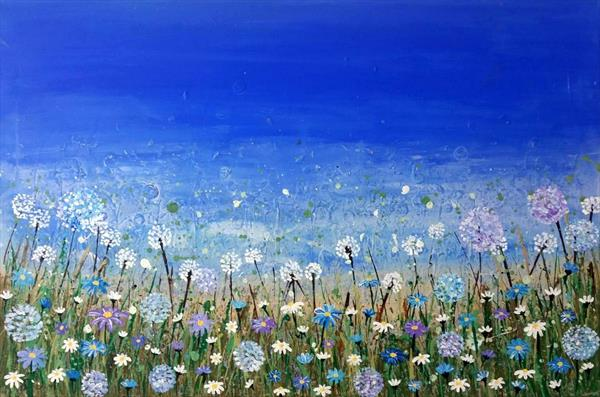 Blue Daisies  by Kate Spratt