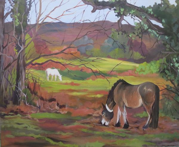 New Forest ponies by Laura Upstone