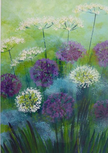 Allium Burst by Elaine Allender