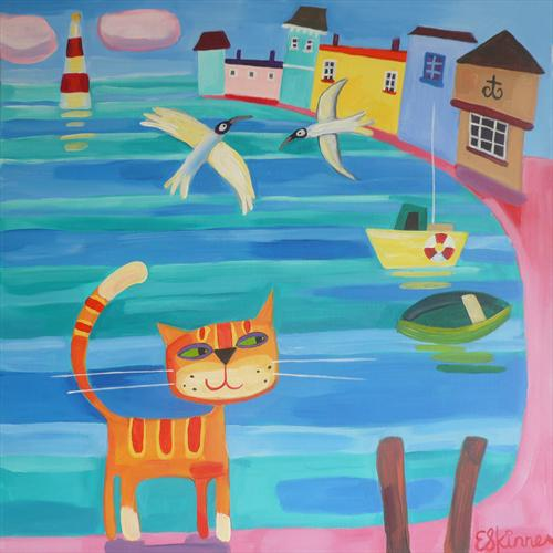 Harbour Cat by Emily Skinner