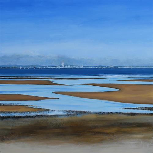 The Spinnaker Tower from Appley Sands  by Sandra Francis