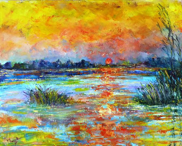 Sunrise over the moors by Mary Ann Day