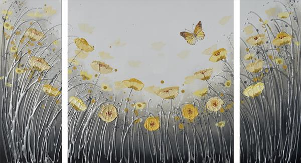 Yellow Butterfly Dance by Amanda Dagg